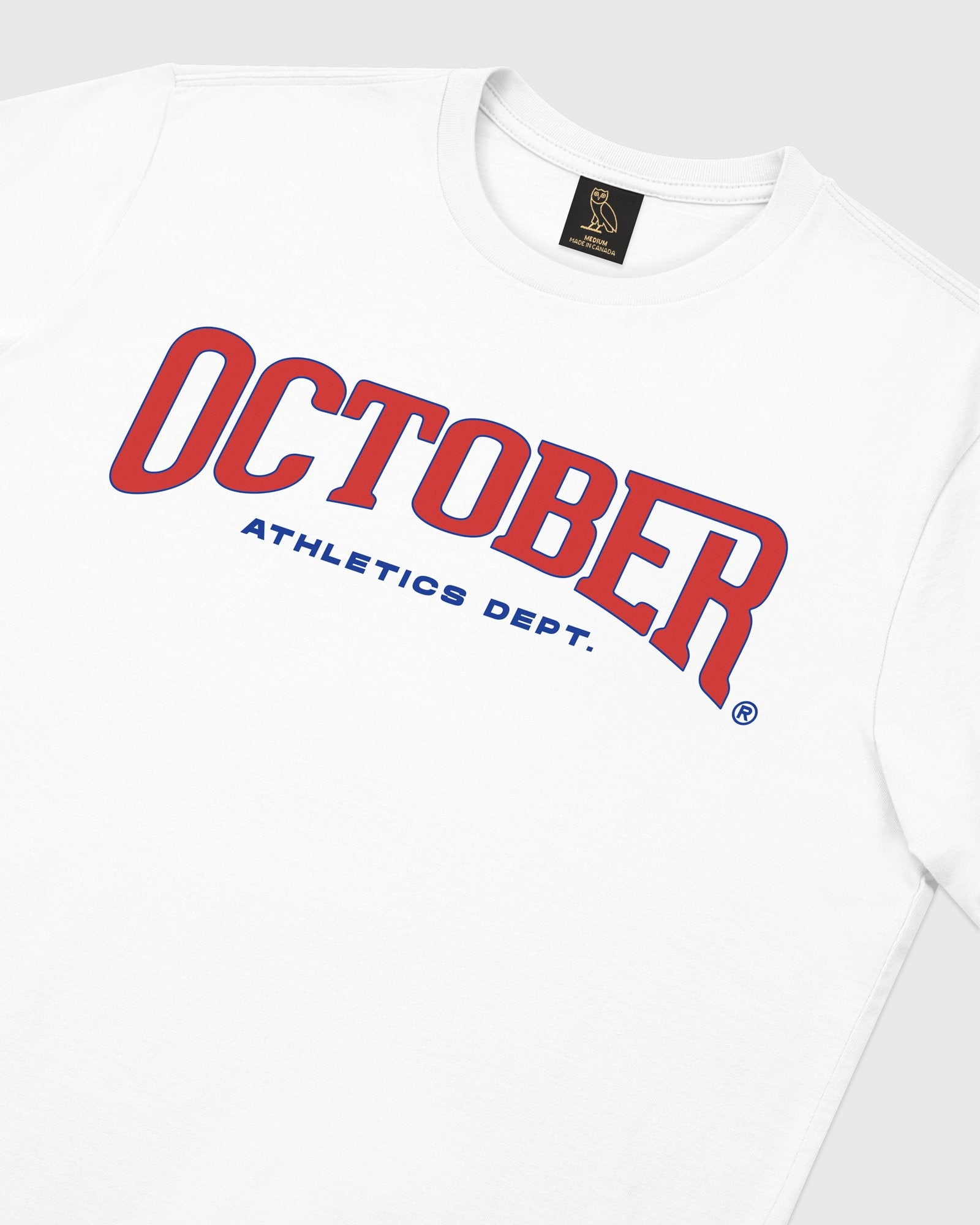 OCTOBER ATHLETICS LONGSLEEVE T-SHIRT - WHITE IMAGE #3