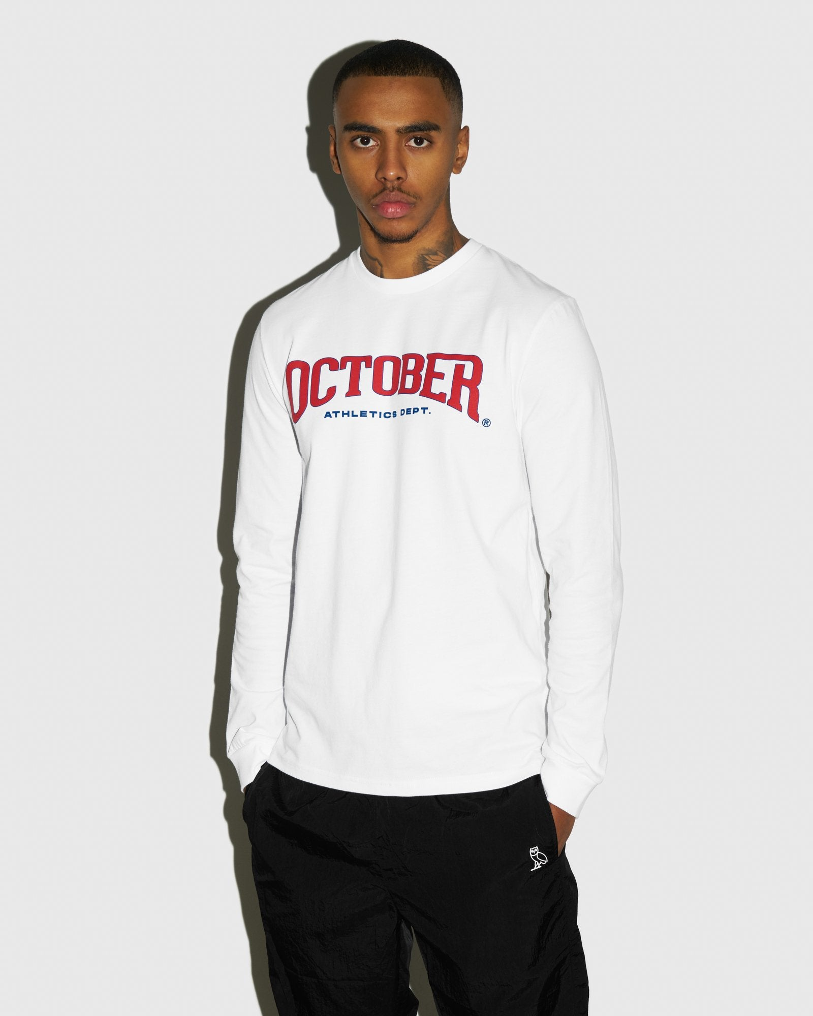 OCTOBER ATHLETICS LONGSLEEVE T-SHIRT - WHITE IMAGE #2