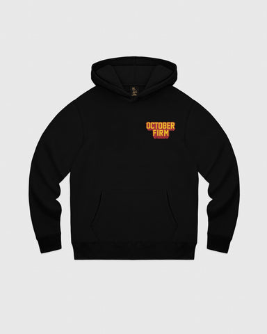 OCTOBER FIRM SHADOW HOODIE - BLACK