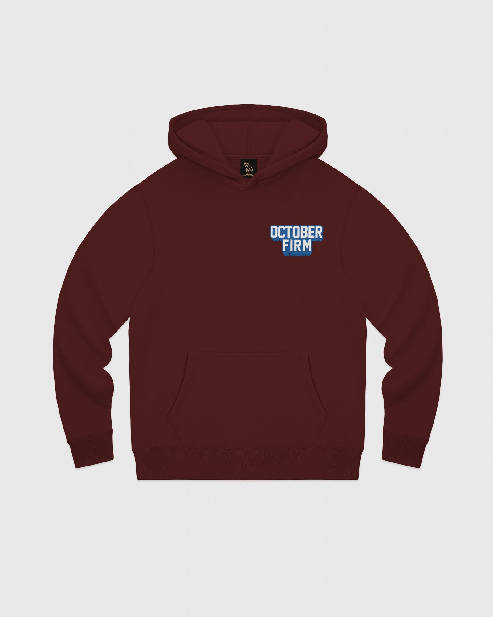 OCTOBER FIRM SHADOW HOODIE - BURGUNDY IMAGE #1