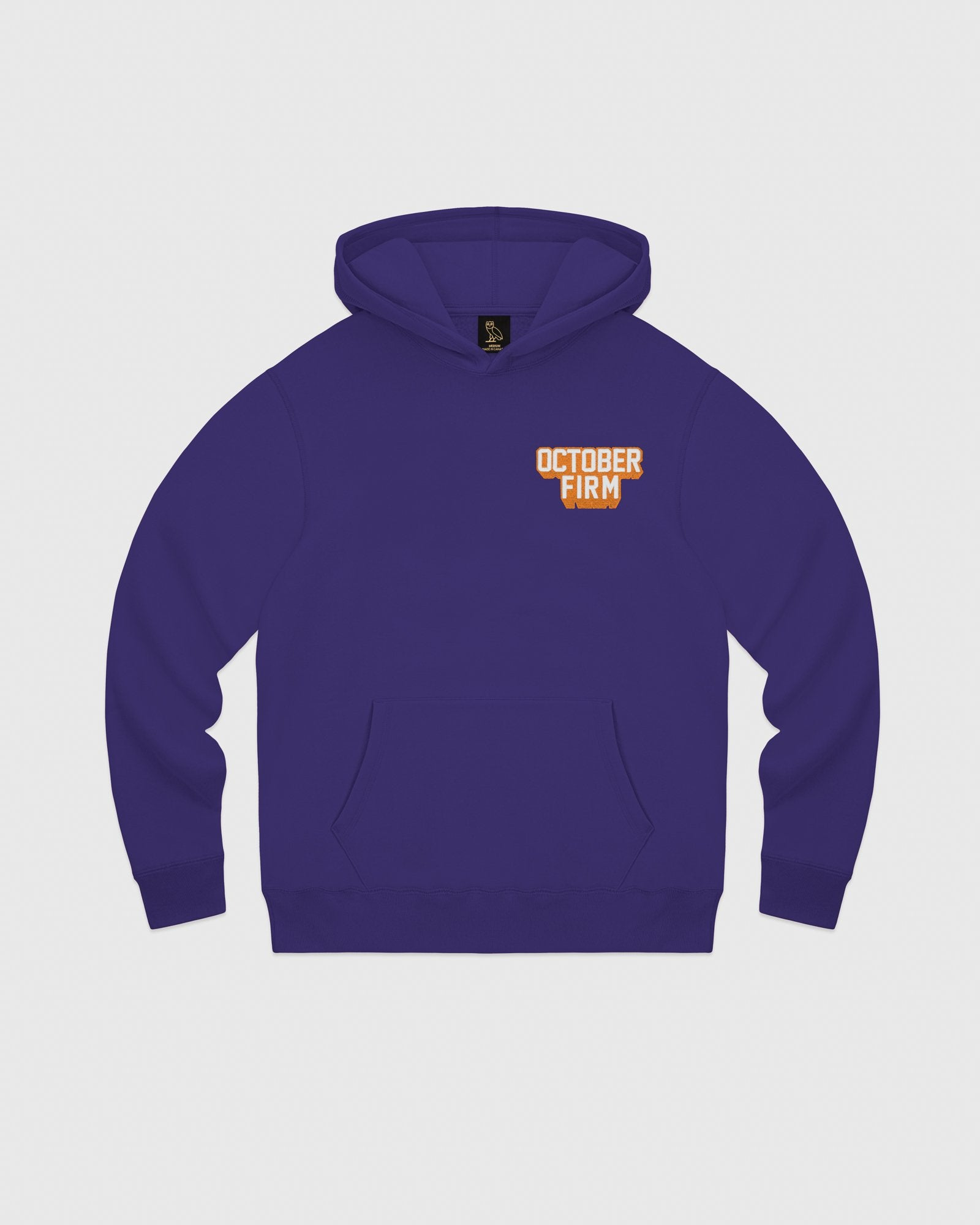 OCTOBER FIRM SHADOW HOODIE - PURPLE IMAGE #1