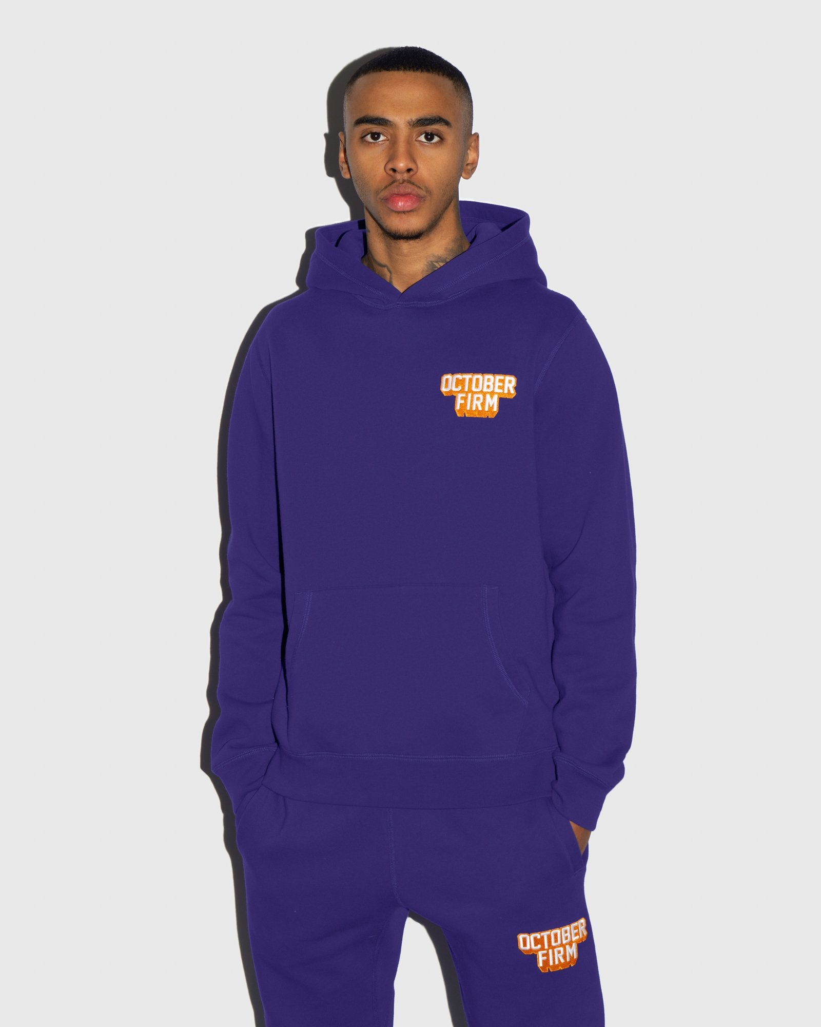 OCTOBER FIRM SHADOW HOODIE - PURPLE IMAGE #2