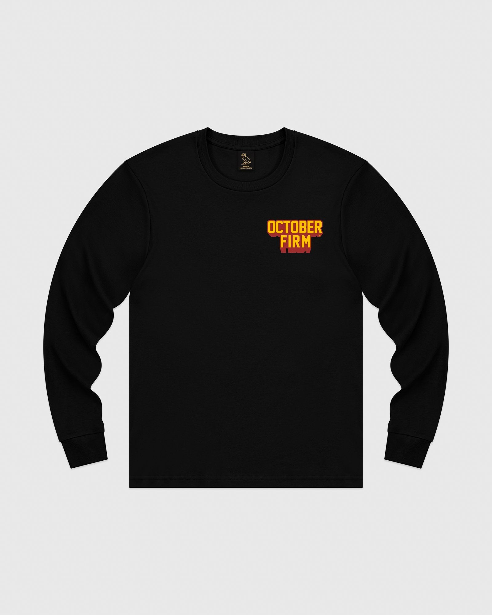 OCTOBER FIRM SHADOW LONGSLEEVE T-SHIRT - BLACK IMAGE #1