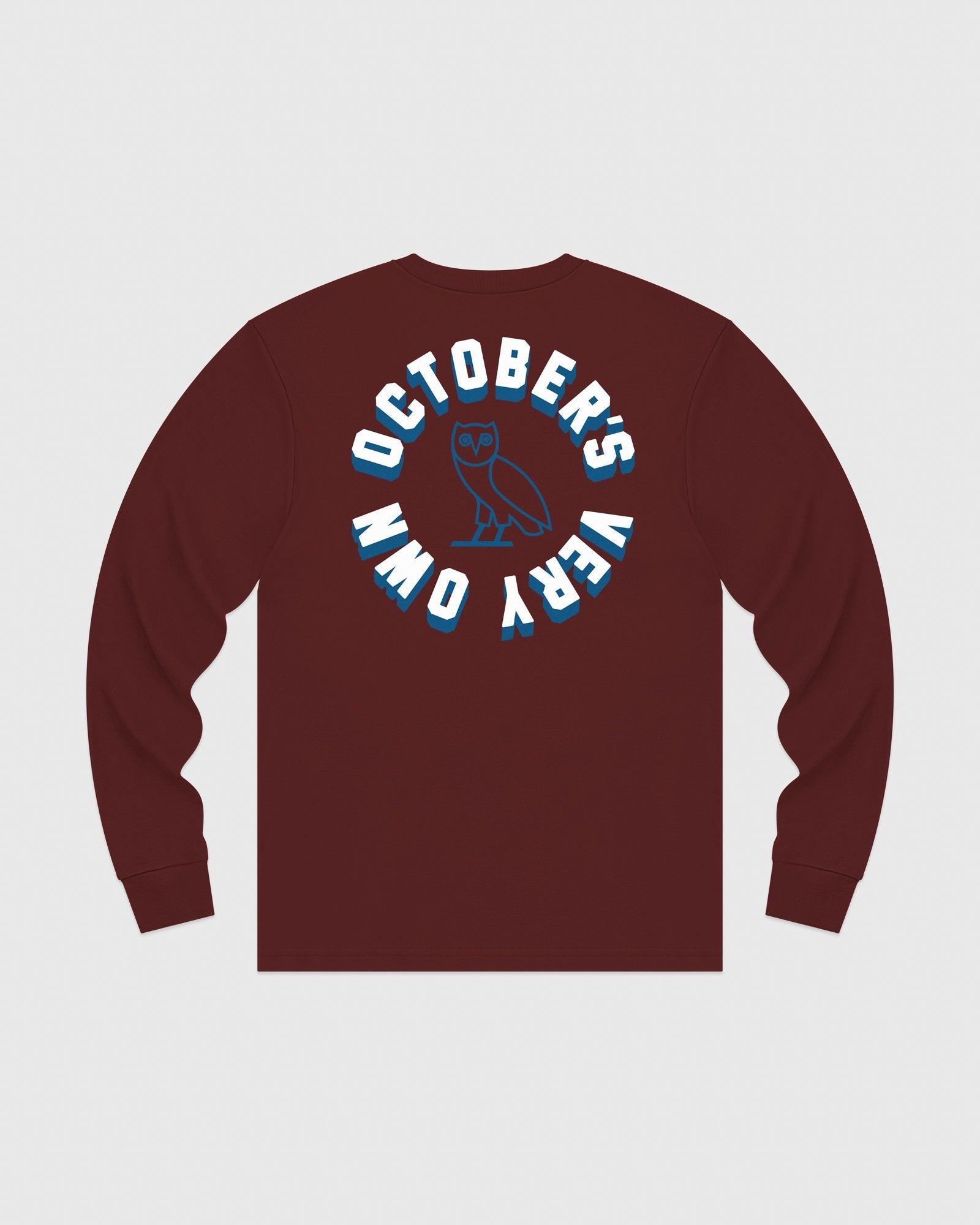 OCTOBER FIRM SHADOW LONGSLEEVE T-SHIRT - BURGUNDY IMAGE #5