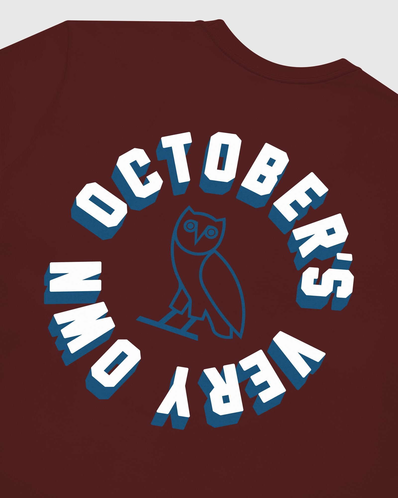 OCTOBER FIRM SHADOW LONGSLEEVE T-SHIRT - BURGUNDY IMAGE #6