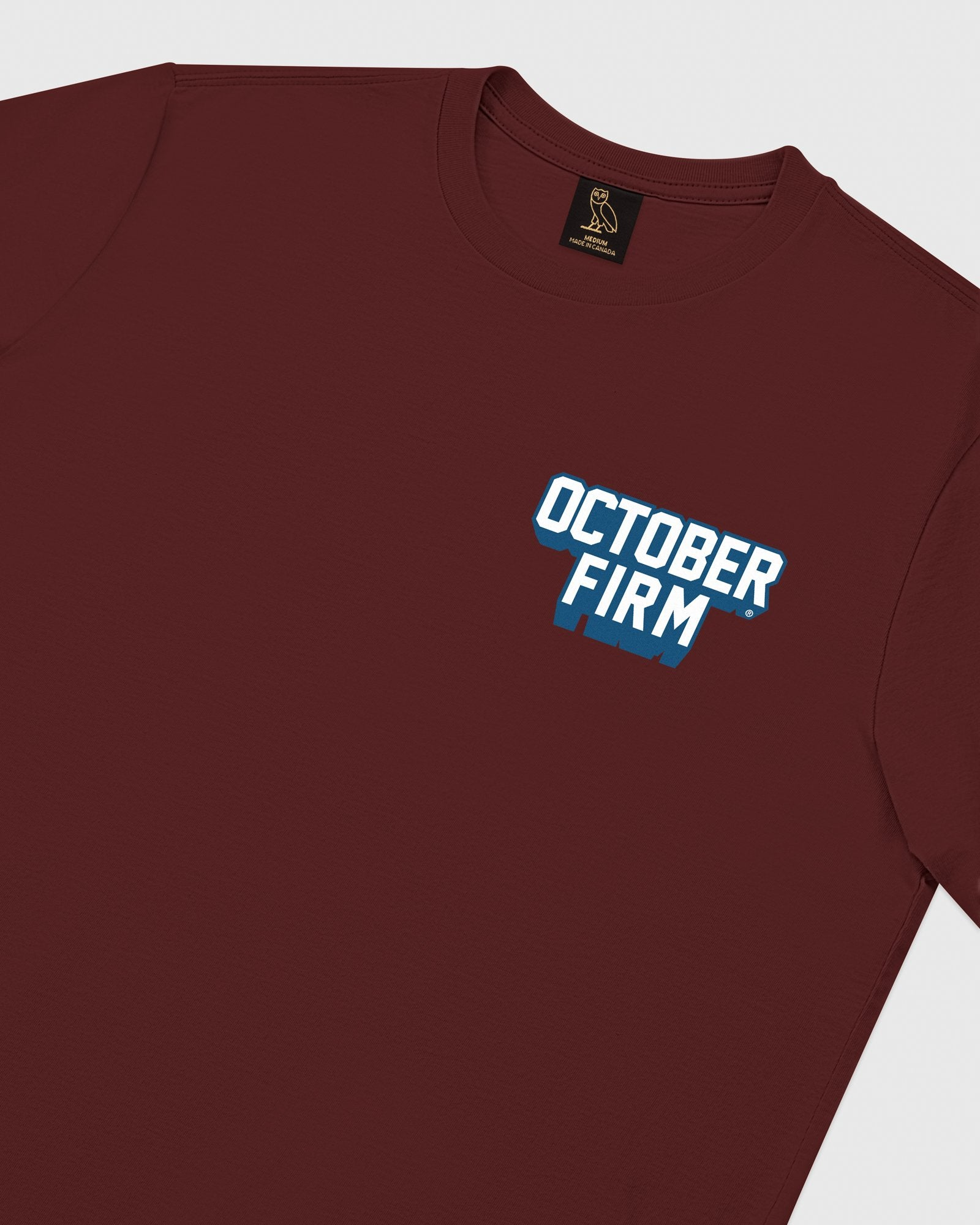 OCTOBER FIRM SHADOW LONGSLEEVE T-SHIRT - BURGUNDY IMAGE #4