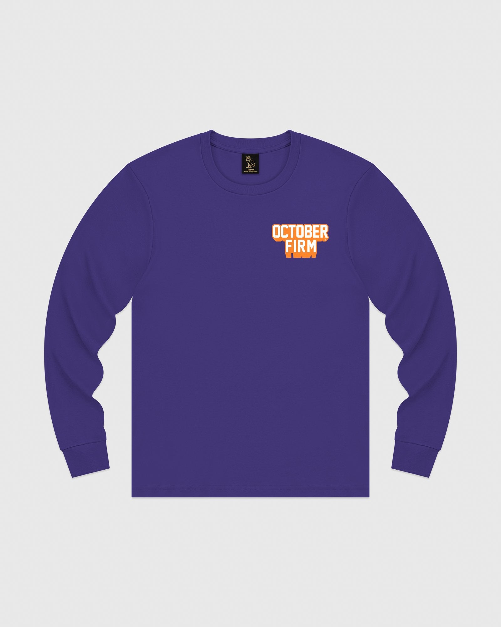 OCTOBER FIRM SHADOW LONGSLEEVE T-SHIRT - PURPLE IMAGE #1