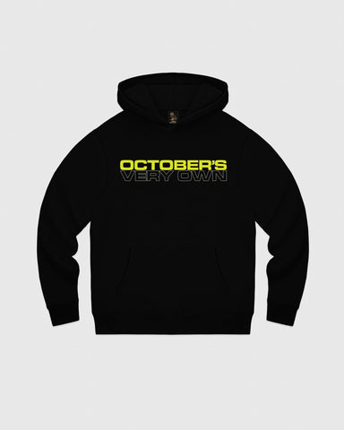OCTOBER OUTLINE HOODIE - BLACK