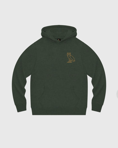 OWL HOODIE - HEATHER GREEN