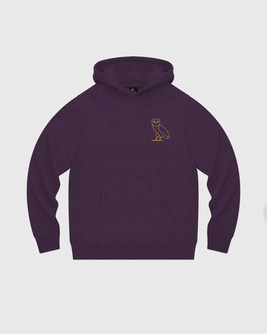 OWL HOODIE - HEATHER PURPLE