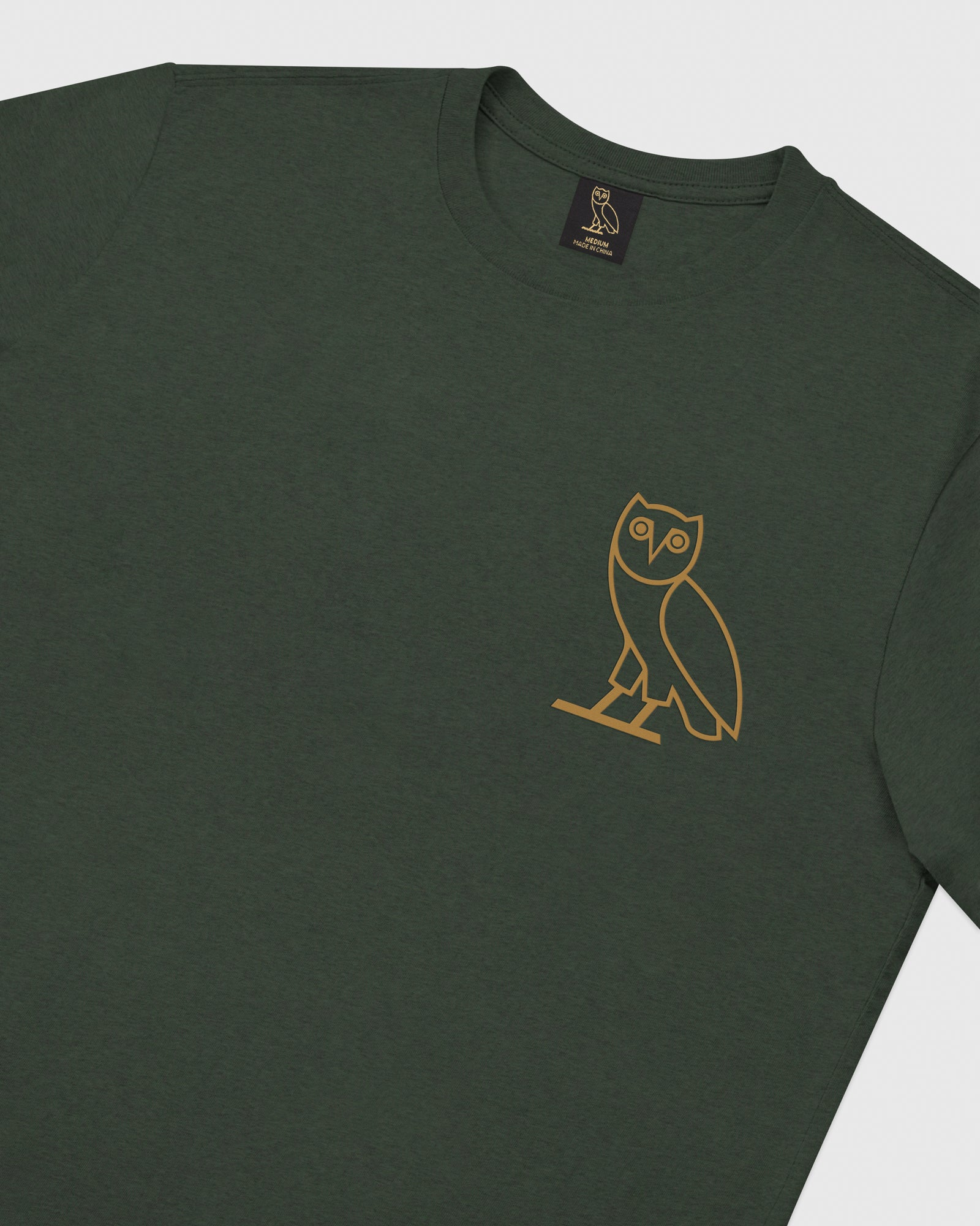 OWL LONGSLEEVE T-SHIRT - HEATHER GREEN IMAGE #3