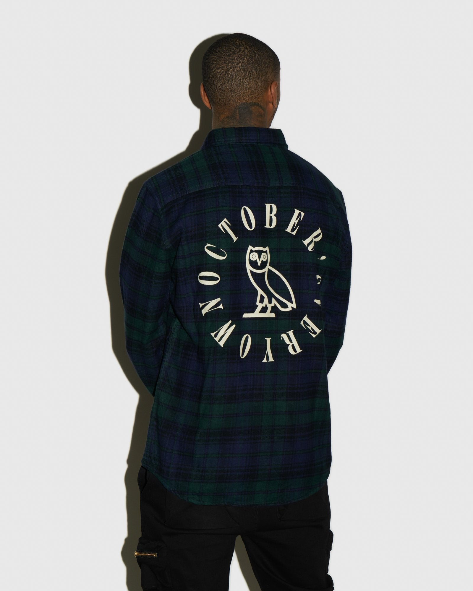 CIRCLE WORDMARK FLANNEL - BLACKWATCH IMAGE #3