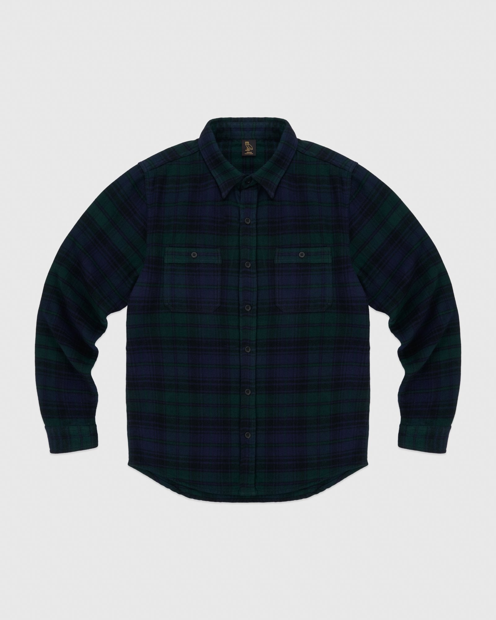 CIRCLE WORDMARK FLANNEL - BLACKWATCH IMAGE #1
