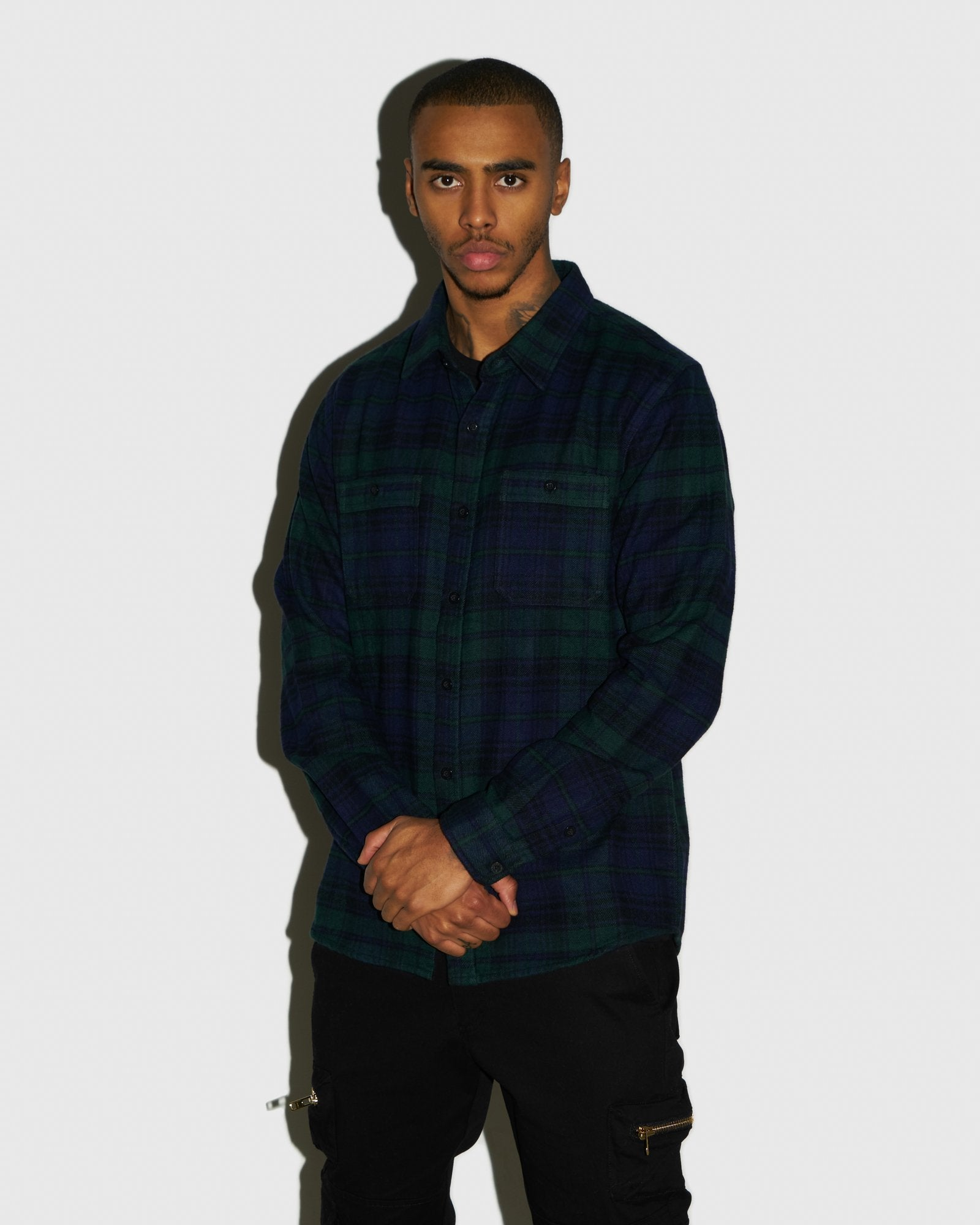 CIRCLE WORDMARK FLANNEL - BLACKWATCH IMAGE #2