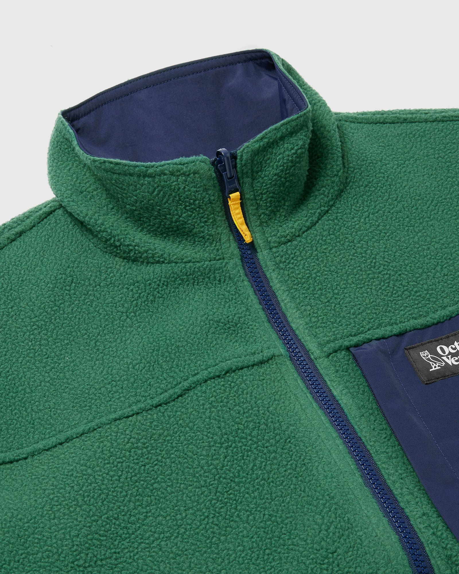 OVO POLARTEC® REVERSIBLE BOMBER - DARK GREEN/NAVY IMAGE #6