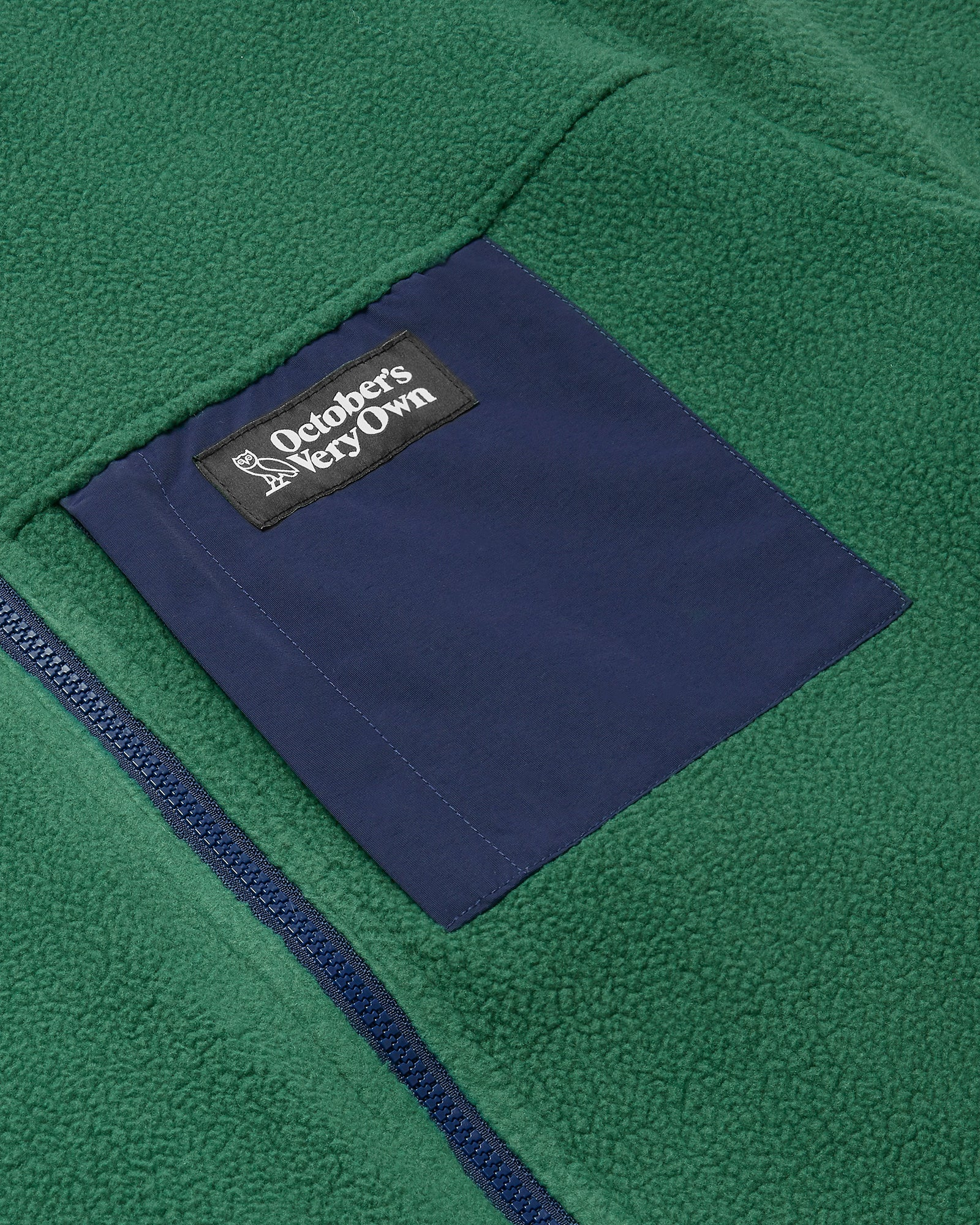 OVO POLARTEC® REVERSIBLE BOMBER - DARK GREEN/NAVY IMAGE #7
