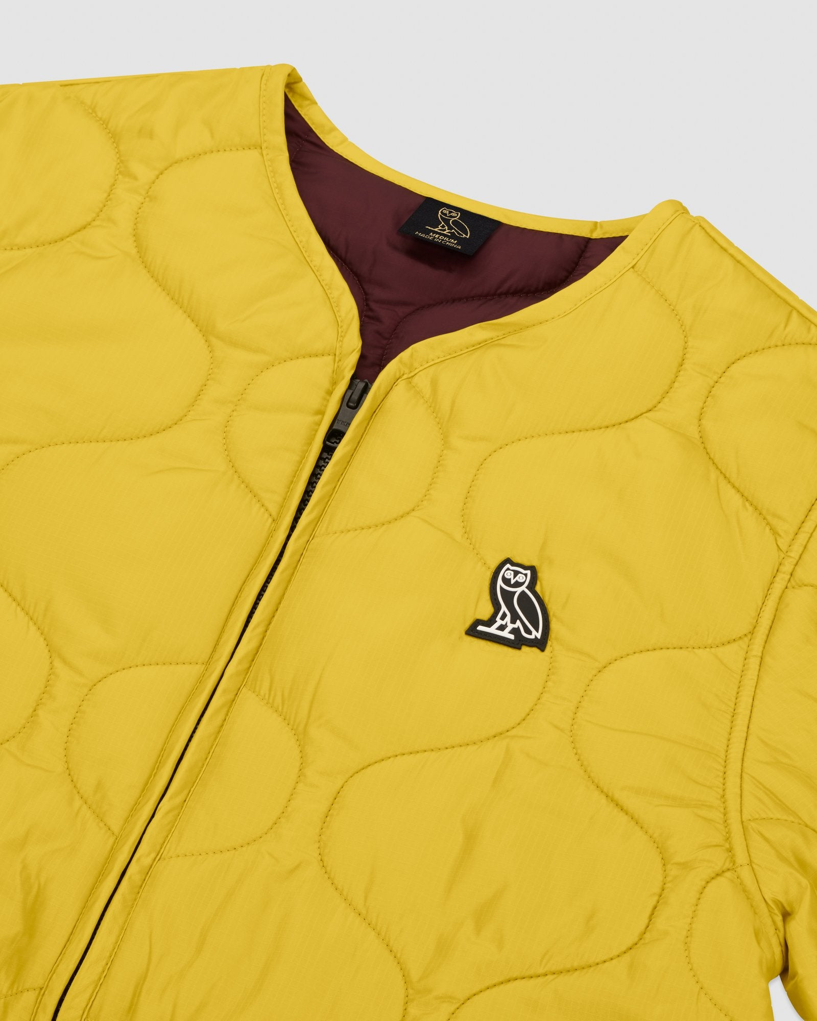 QUILTED LINER JACKET - YELLOW IMAGE #4