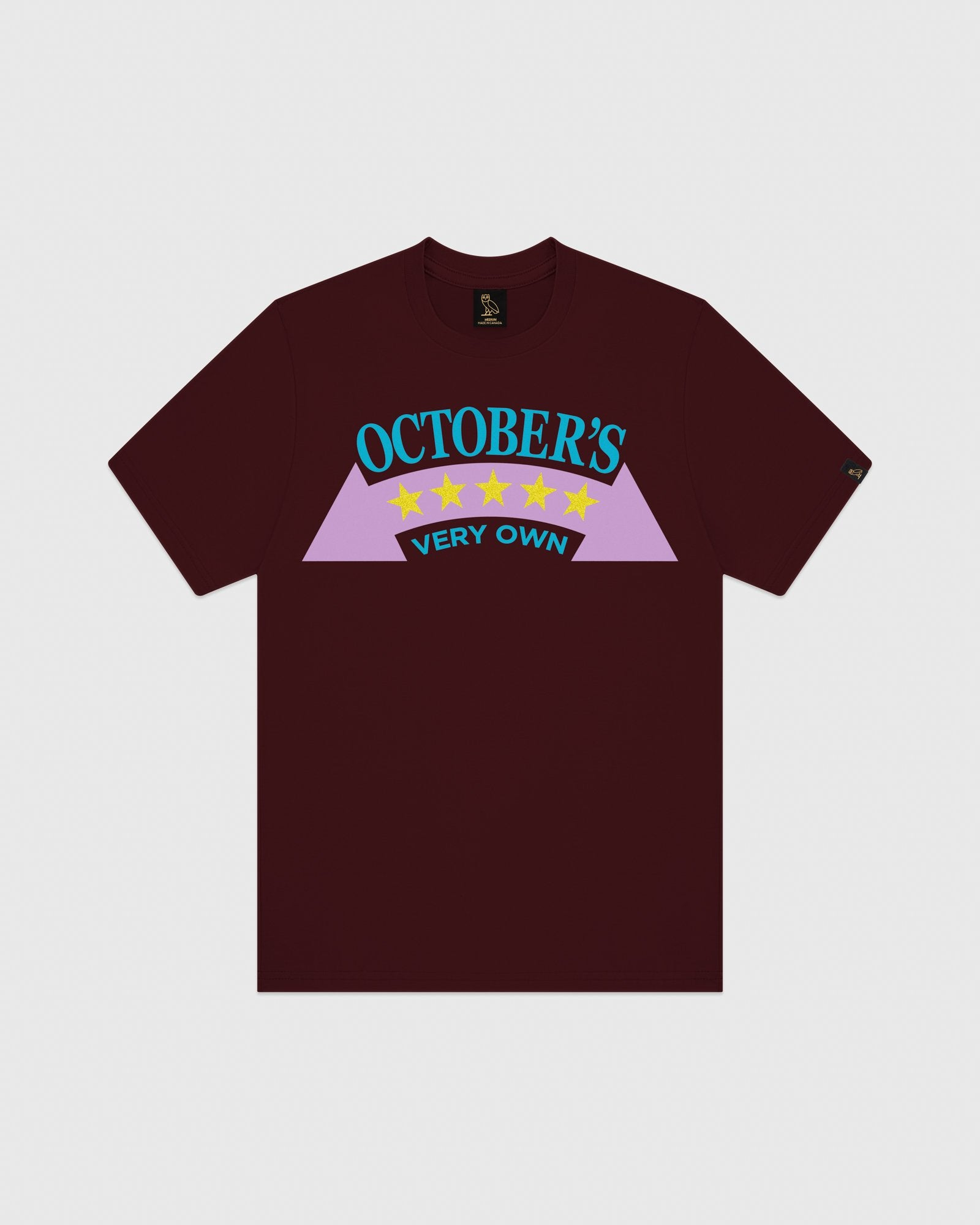 RALLY T-SHIRT - BURGUNDY IMAGE #1