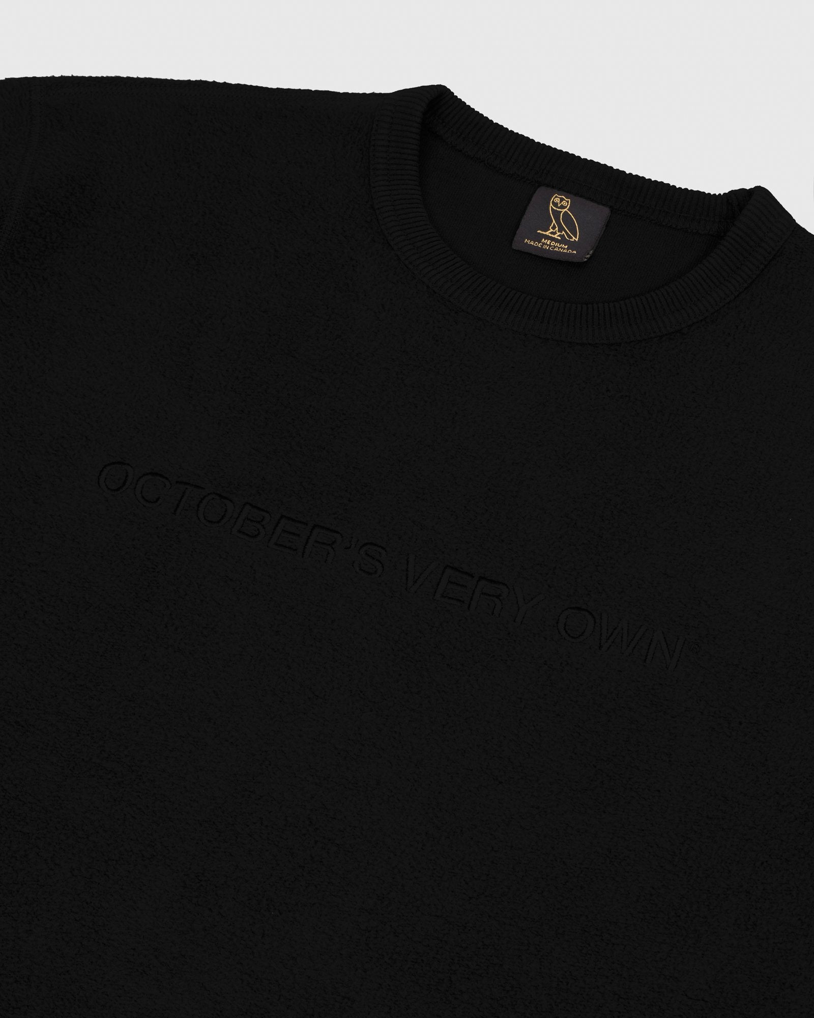 REVERSE FLEECE CREWNECK - BLACK IMAGE #3