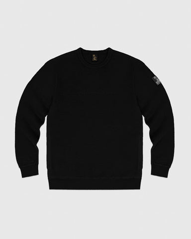REVERSE FLEECE CREWNECK - BLACK