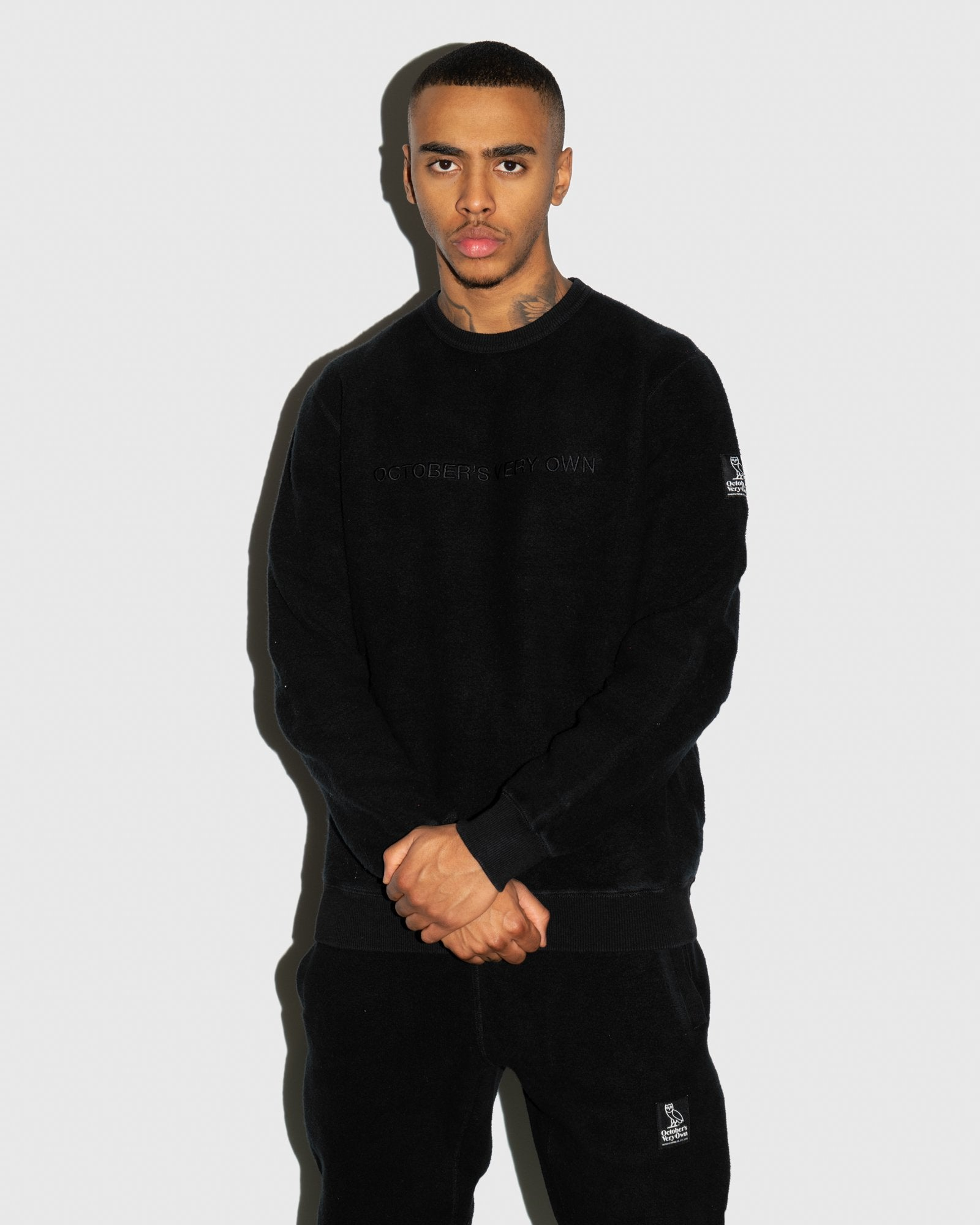 REVERSE FLEECE CREWNECK - BLACK IMAGE #2