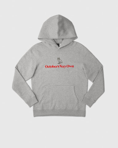 OWL WORDMARK HOODIE - HEATHER GREY