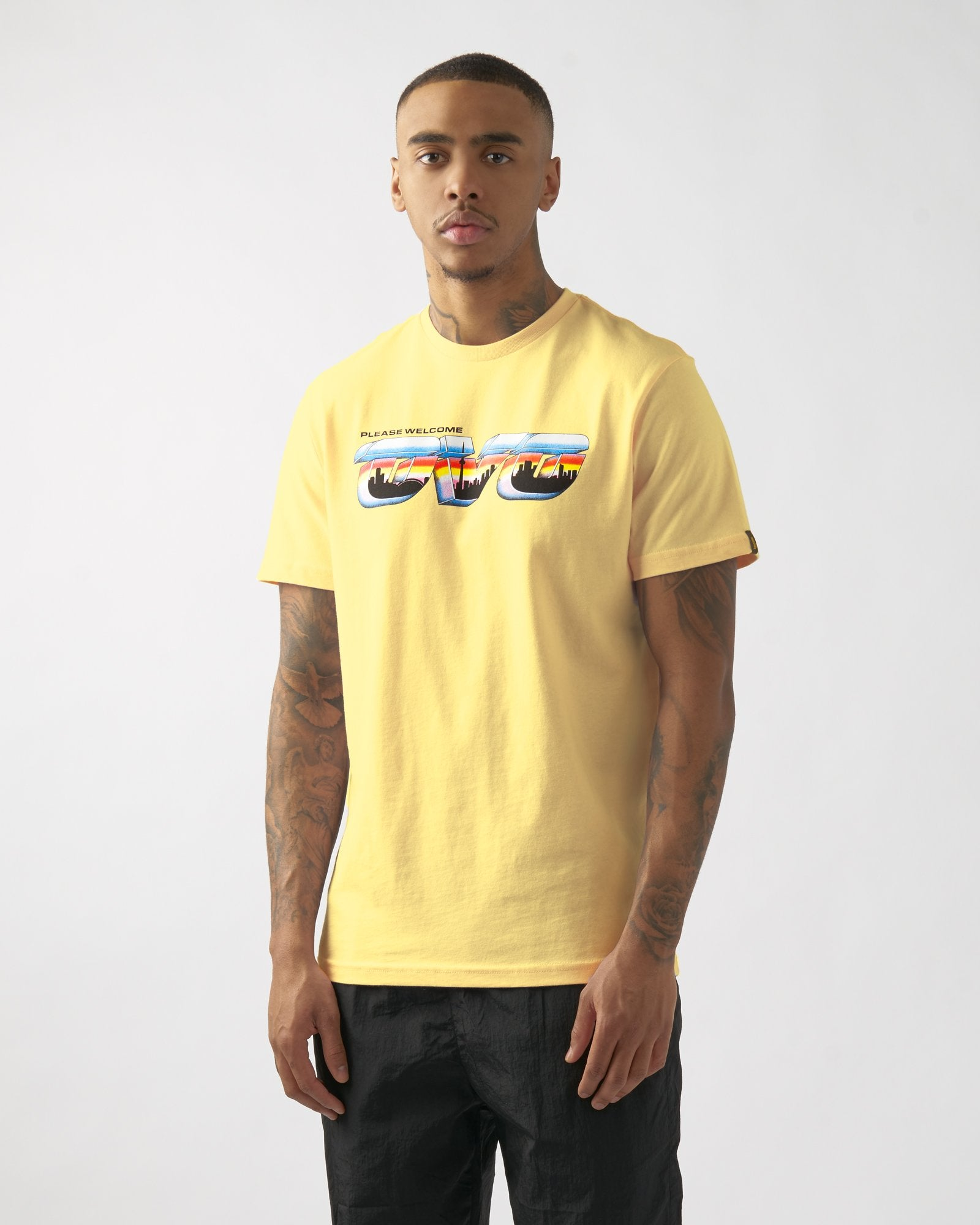 POSTCARD T-SHIRT - PALE YELLOW IMAGE #3
