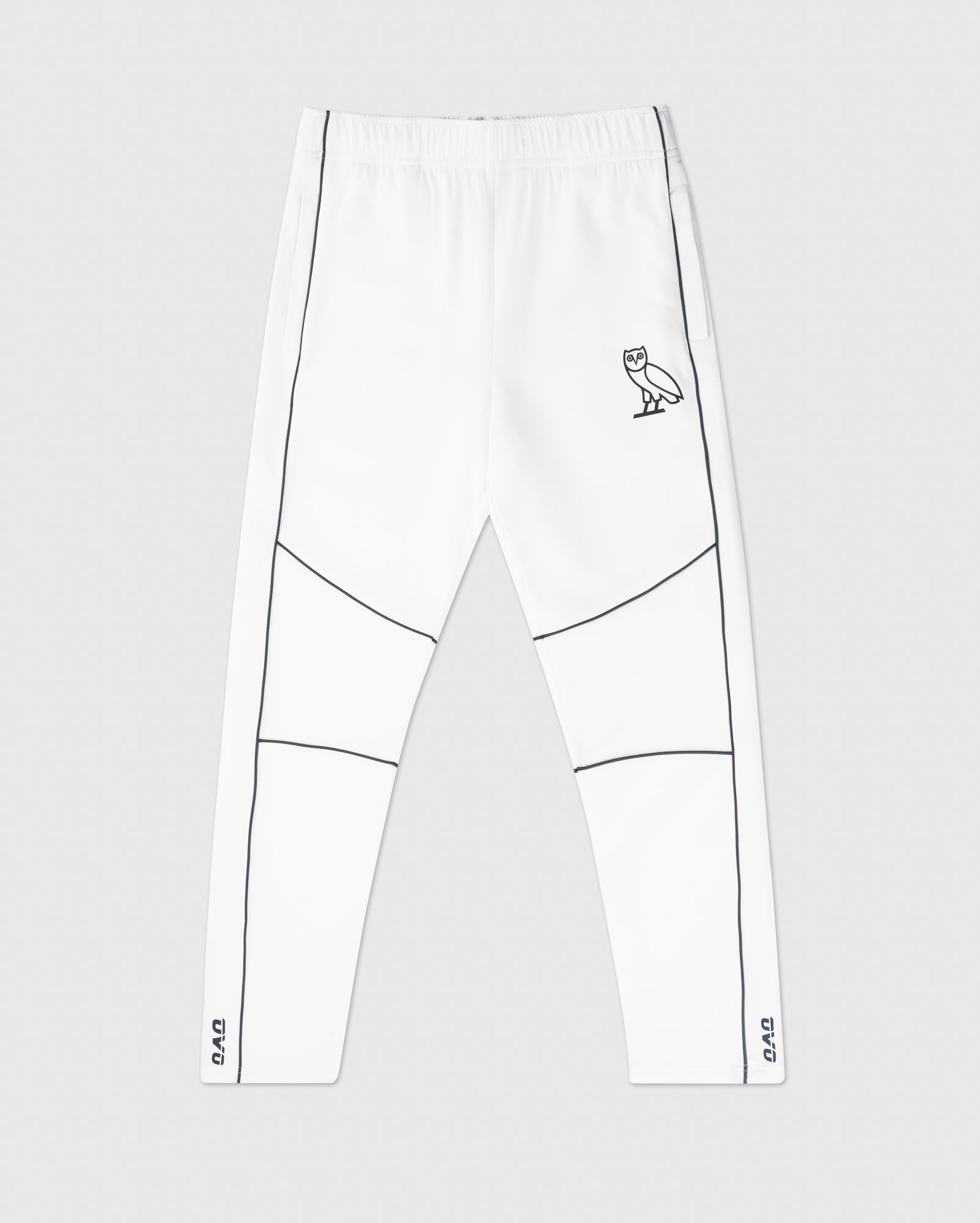 REFLECTIVE PIPING PANT - WHITE IMAGE #1