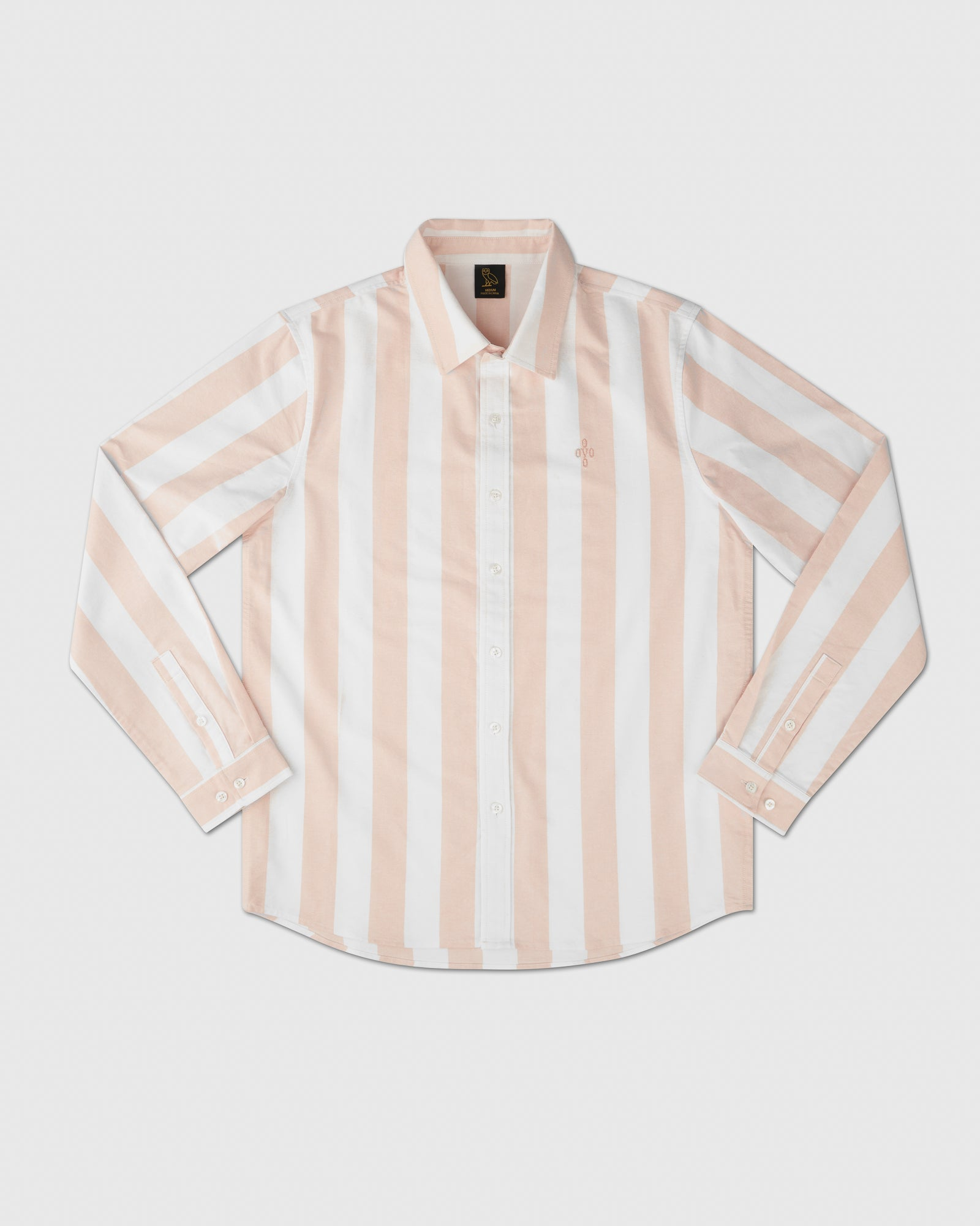 STRIPED OXFORD SHIRT - PALE PINK IMAGE #1