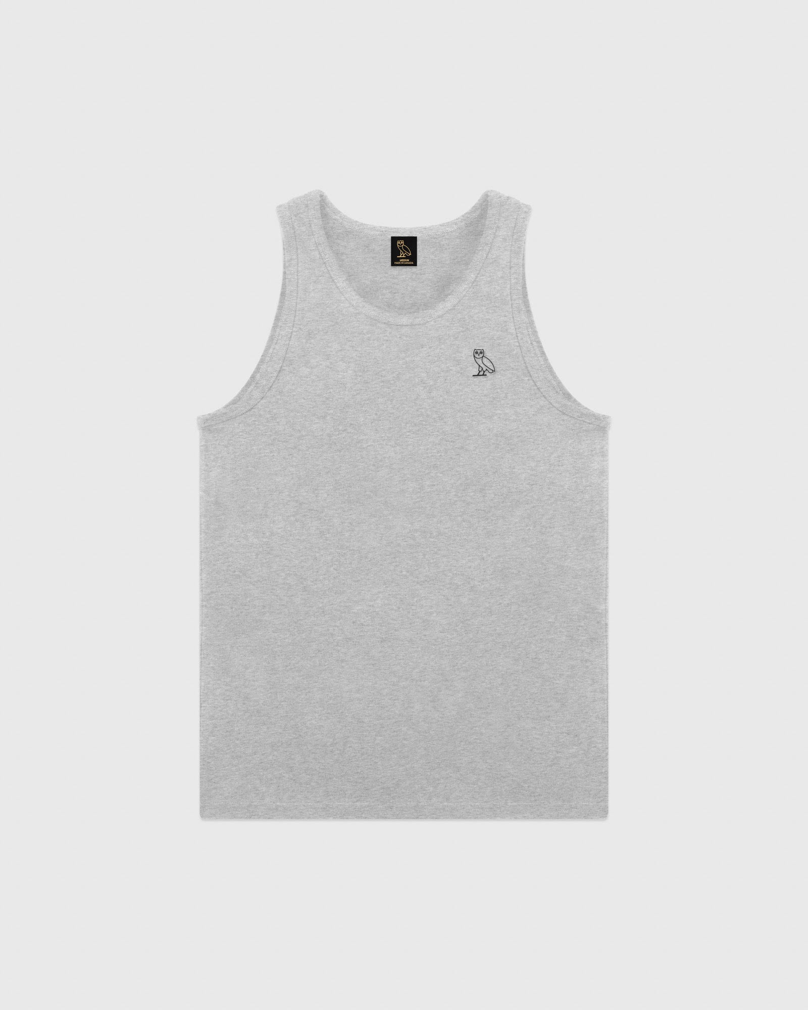 ESSENTIAL OWL TANK TOP - HEATHER GREY IMAGE #1