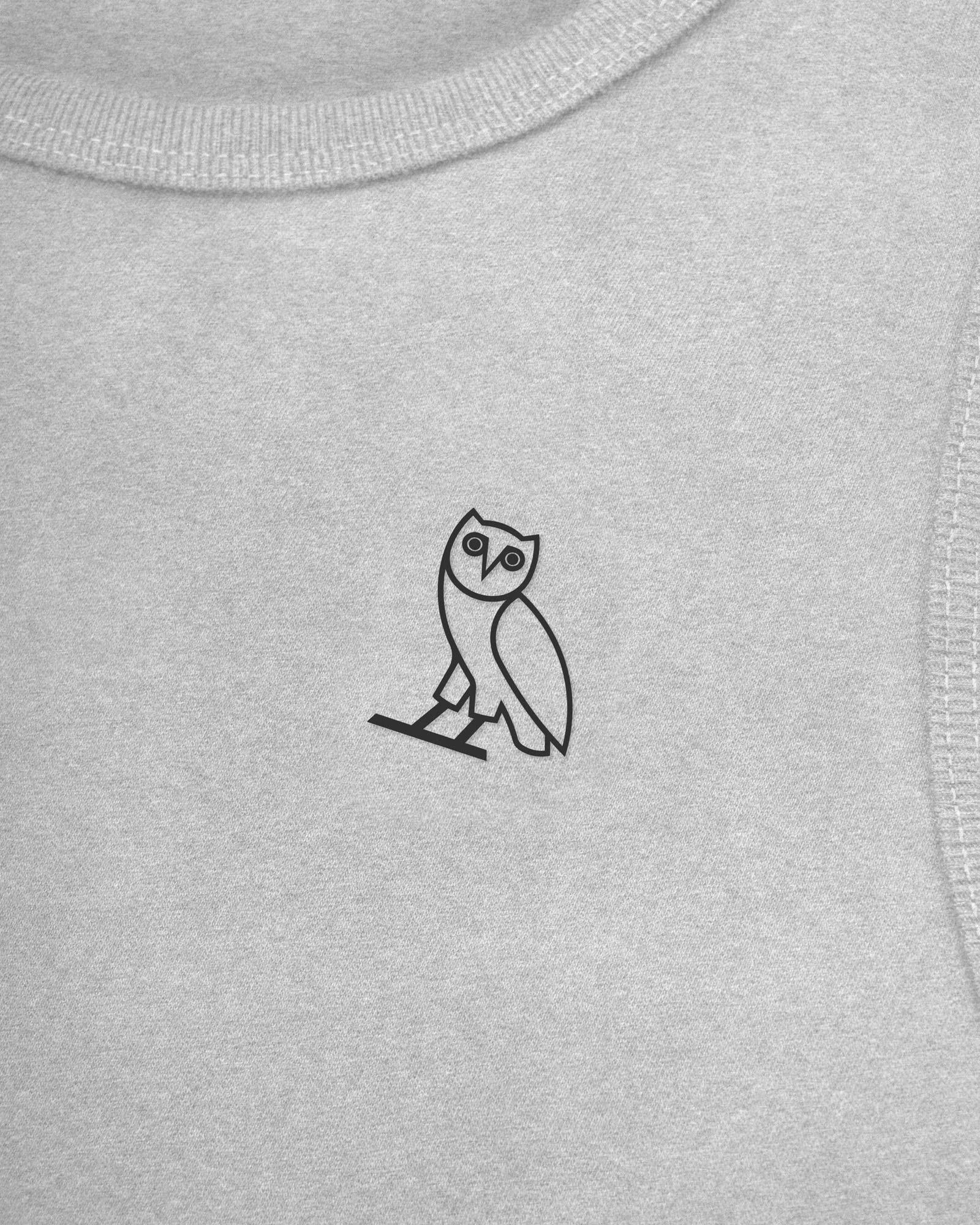 ESSENTIAL OWL TANK TOP - HEATHER GREY IMAGE #3