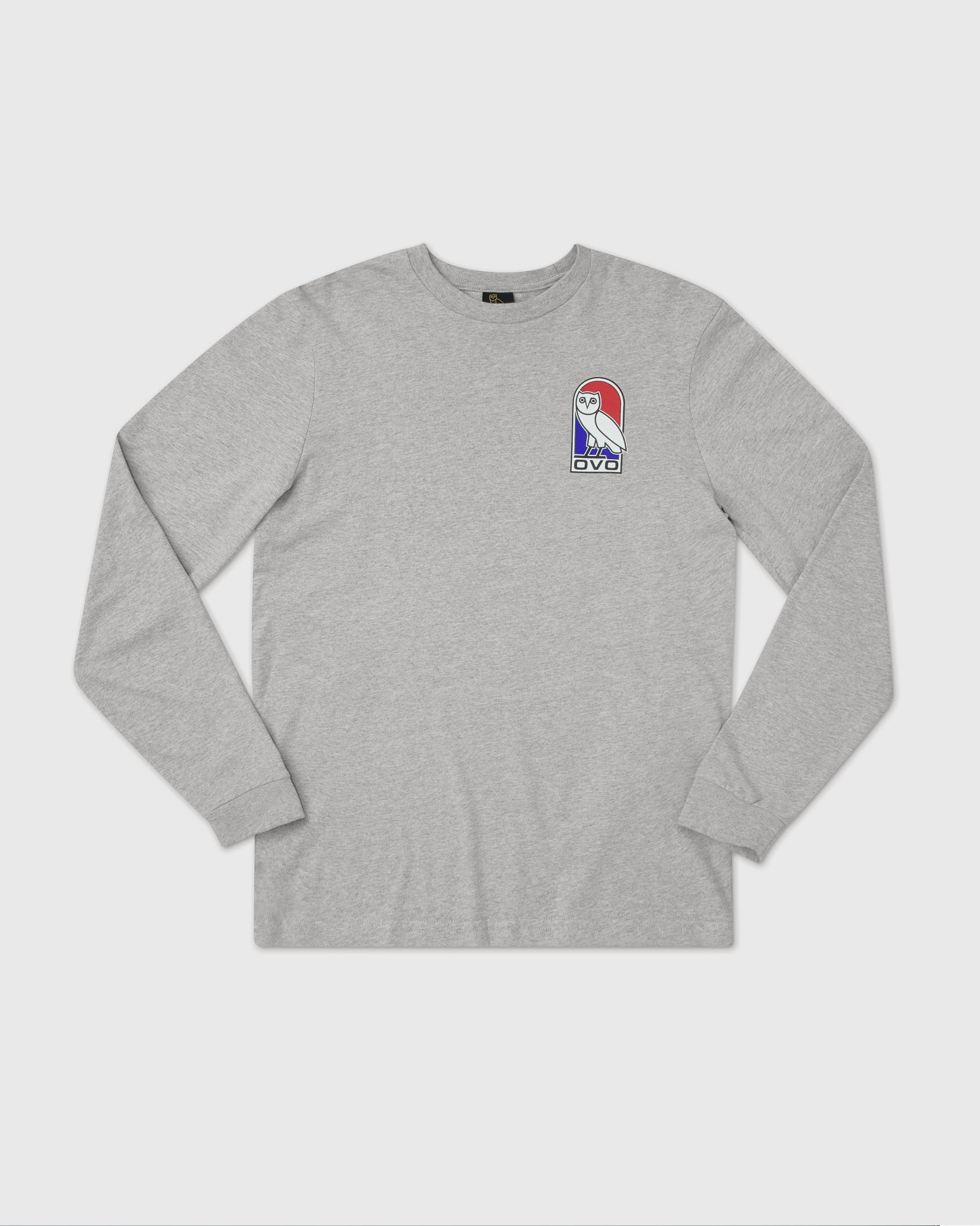 VAULT OWL LONGSLEEVE T-SHIRT - HEATHER GREY IMAGE #1