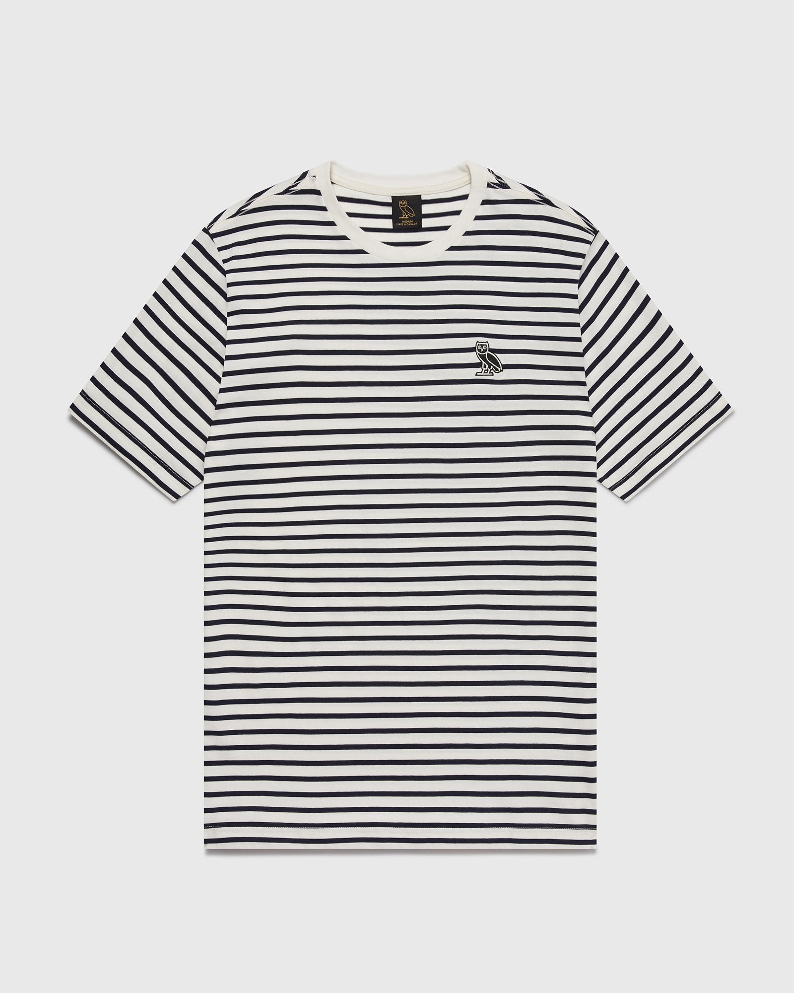 NAUTICAL STRIPE T-SHIRT - NAVY/CREAM IMAGE #1
