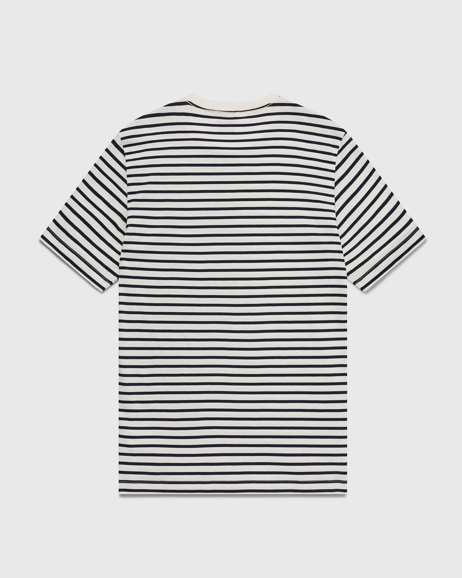 NAUTICAL STRIPE T-SHIRT - NAVY/CREAM IMAGE #3