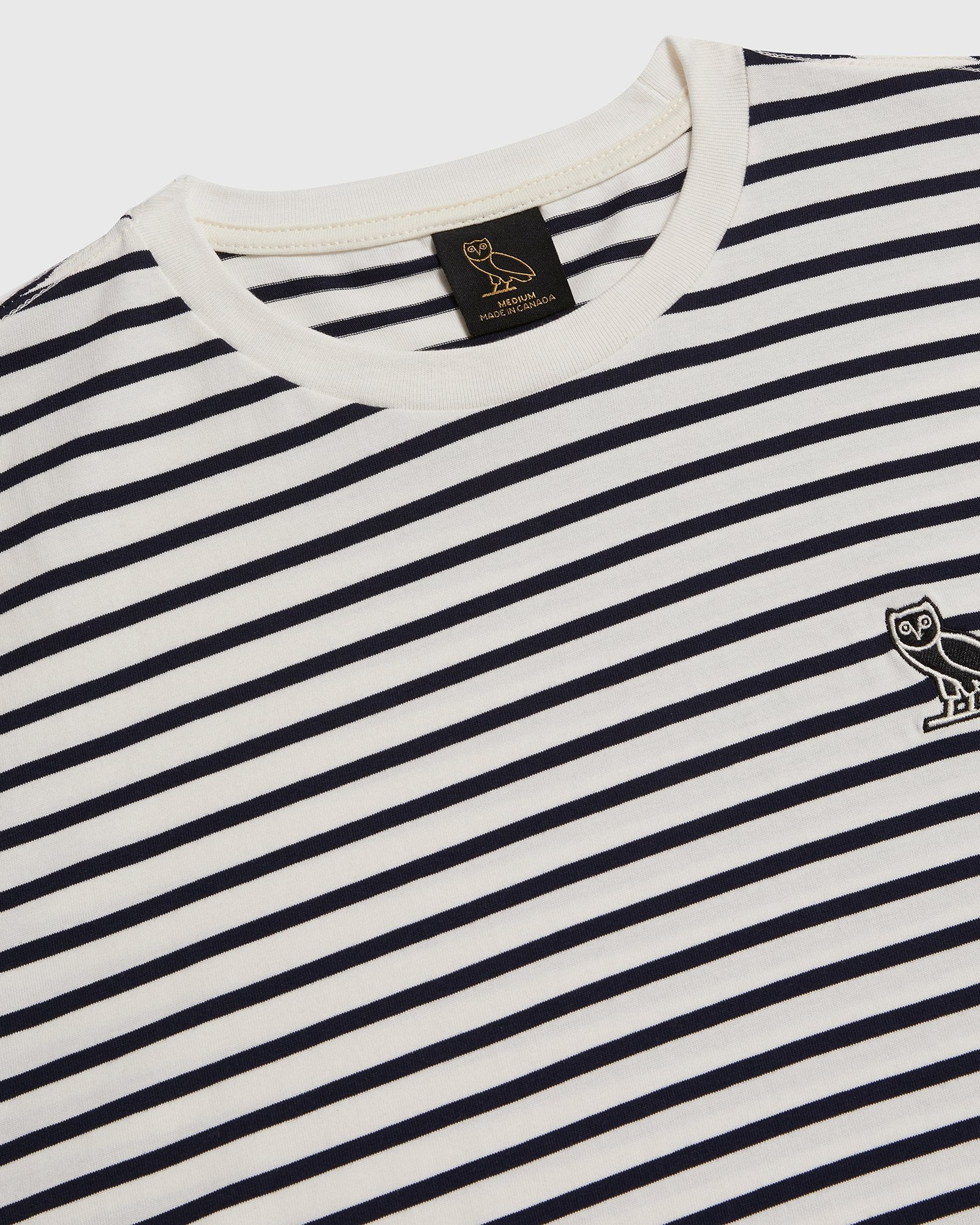 NAUTICAL STRIPE T-SHIRT - NAVY/CREAM IMAGE #4