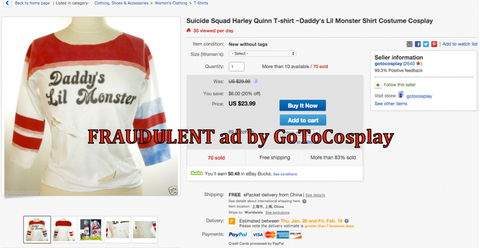 GoToCosplay using images that are the property of Berkana Haus