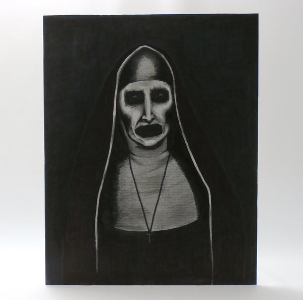 The Nun Valek from the Conjuring 2 Portrait Painting