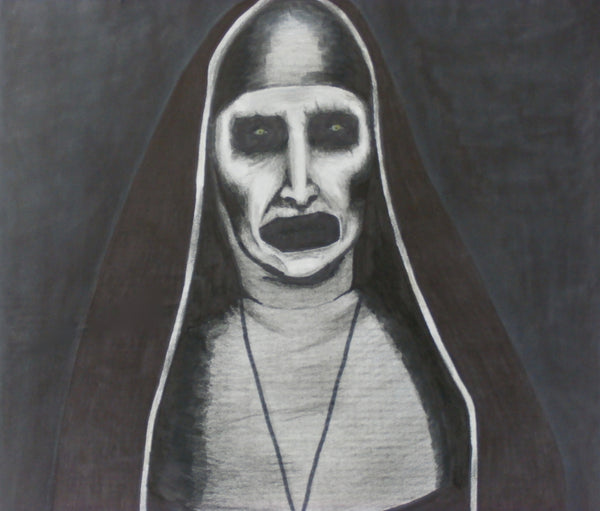 The Nun from the Conjuring 2 Portrait Painting