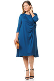 Side Twist Midi Dress Plus Size