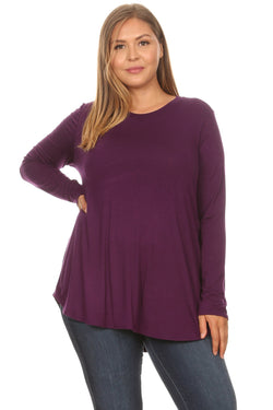Basic Long Sleeve Top in Plus