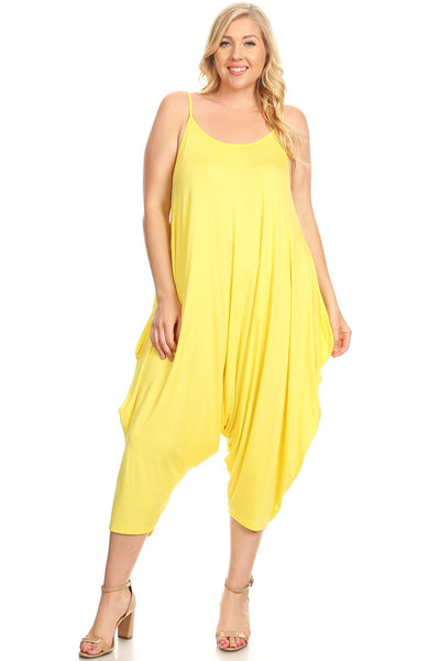Strappy Harem Jumpsuit in Plus Size Solid