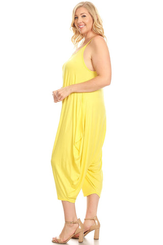 aab435a256c Strappy Harem Jumpsuit in Plus Size Solid – Pastel by Vivienne
