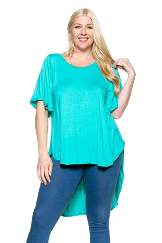 High-Low Top in Plus Size
