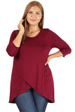 Tulip Hem Top in Plus Size