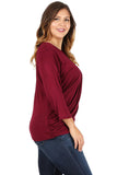 Side Ruched Top in Plus Size