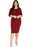 Bodycon Midi Dress in Plus Size