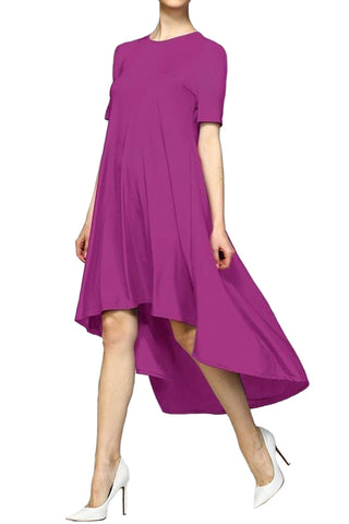 Venezia Knit High-Low Shirt Dress