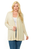 Long Sleeve Jersey Cardigan Plus