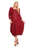 Cocoon Midi Dress Plus Size