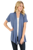 Short Sleeve Open Front Vest Plus Size